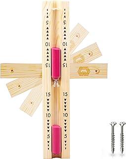 Bader Wellness® Sablier de sauna exclusif 15 minutes – Verre robuste et résistant à la chaleur – Couleur contrastée rouge...