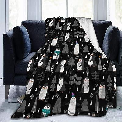 毛布 ペンギンと木 ブランケット フランネル フリース 洗える プレミアム あったかい オールシーズン 暖かい おしゃれ 薄手 軽量 柔らかく肌触り