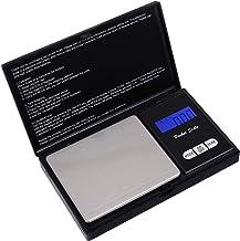 hblife Escala de Bolsillo de precisión (precisión de 0.01g a 200g), Escala de Cusine, Escala de joyería con Pantalla LCD y función de Tara (Negro)