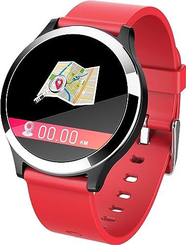 JIANGJIE intelligent regarder Fitness Tracker ECG + PPG IP67 écran Couleur étanche avec fréquence voiturediaque, Pression artérielle Mesure, EnregistreHommest Sportif, Rappel Intelligent, Photo à Distance