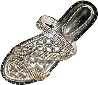 Fomino Hausschuhe Damen Mode Sexy Rom Sandalen Pailletten Sandalen Blinkende Flat Sandal Offene Schuhe Pantoffeln Indoor O...