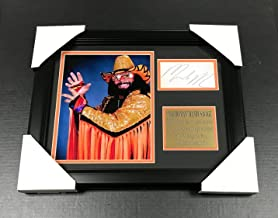 WWF WWE MACHO MAN RANDY SAVAGE Autographed Reprint 8x10 Photo Framed - Autographed Wrestling Miscellaneous Items