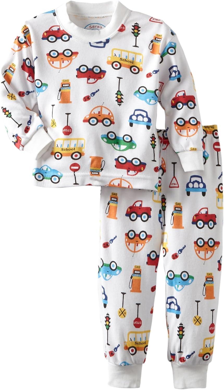 Sara's Prints Girls' Baby Boys' Classic Two-Piece Long Pajamas