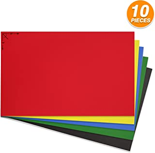 Emraw Poster Board Sturdy Office Assorted Colors Blanks Sheets Sign Scrapbooking Blank Graphic Display Board Durable for Arts and Crafts Projects Blank Board 5 per Pack (Pack of 2)