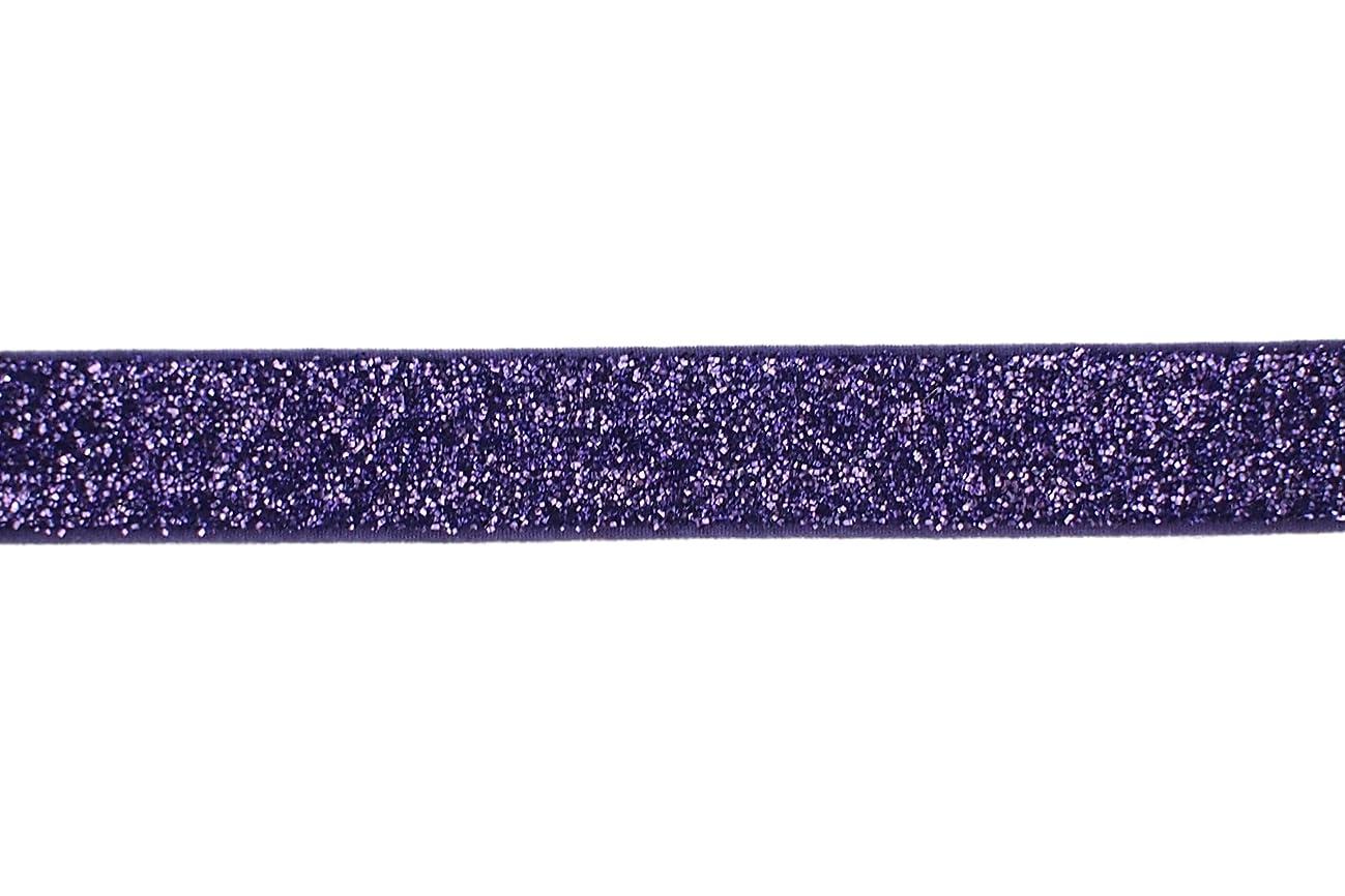 Trimweaver 5/8-Inch Glitter Fold Over Elastic for Craft, 5-Yard, Light Purple