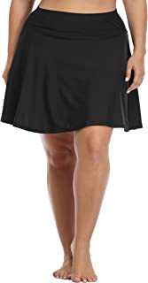Daci Women's Swim Bottom High Waisted Skirted Bikini Bottom Athletic Swim Skirt