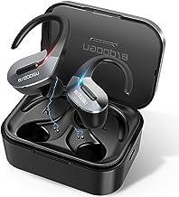 BRDOOGU Bluetooth 5.0 Wireless Earbuds,Truly Wireless Sport Headphones IPX5 Waterproof Wireless Earphones 50H Cycle Play Time,with Charging Case 1000mAh Built-in Microphone