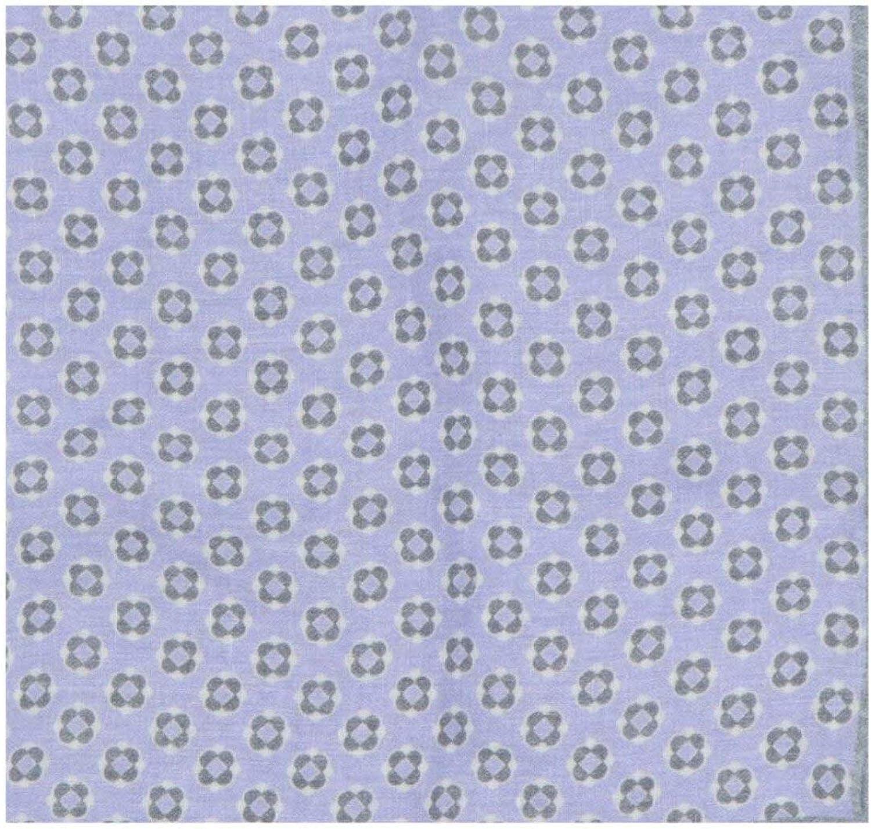 Paolo Albizzati 100% quality Oklahoma City Mall warranty Men's Linen Medallion Pocket Square Quatrefoil
