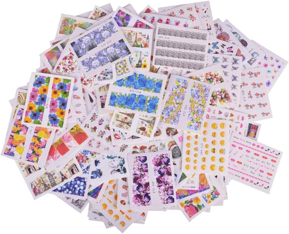 200PCS Mixed free OFFicial mail order shipping Water Sticker Nail Art Car Decorations Flower