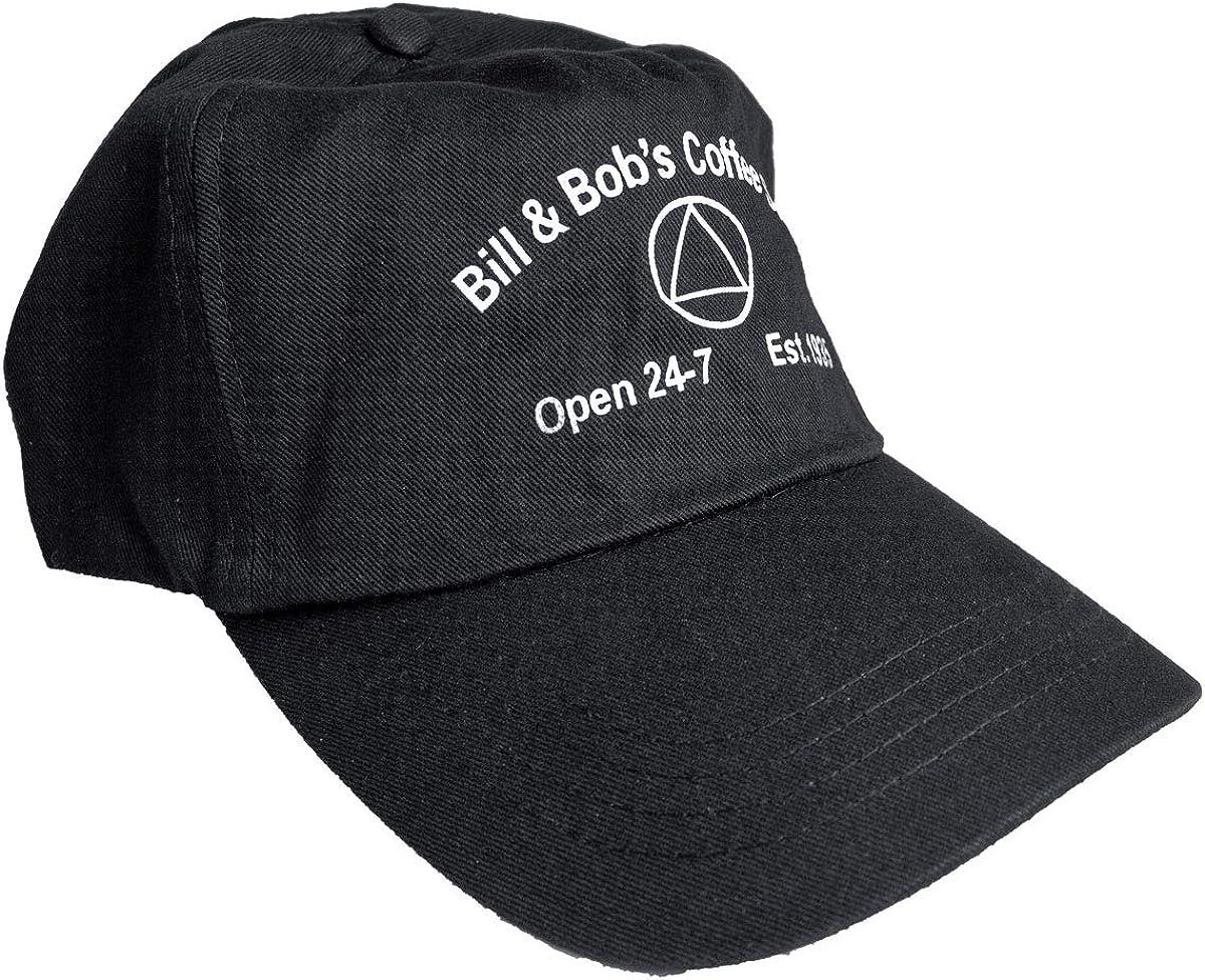 AA Hat - Bill & Bob's Coffee Shop - Black and White