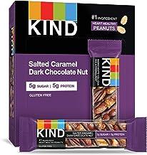 KIND Bars, Salted Caramel & Dark Chocolate Nut, Gluten Free (Pack of 12)