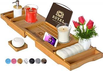 Royal Craft Wood Luxury Bamboo Bathtub Tray