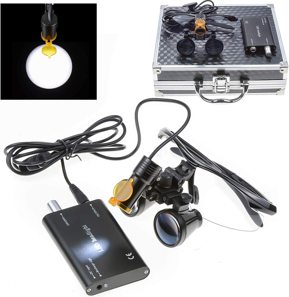 EAST Brand 5W LED Headlight Lamp Plastic wit On Fees Cheap free Type Filter Clip
