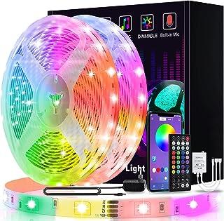 Led Strip 20m, L8star Led Streifen Farbwechsel Led Lichterkette Clever Rgb Led Band Strips mit Bluetooth und fern Kontroll...