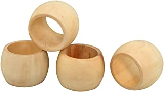 Rustic Napkin Rings Set of 4, Napkin Ring Holder - for Harvest, Thanksgiving, Christmas, Party Decoration, Dinning Table, Everyday Gatherings, Napkin Rings Bulk