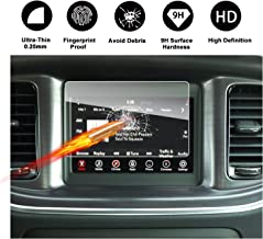 2011-2018 Dodge Charger Uconnect Touch Screen Car Display Navigation Screen Protector, RUIYA HD Clear TEMPERED GLASS Car In-Dash Screen Protective Film (7-Inch)