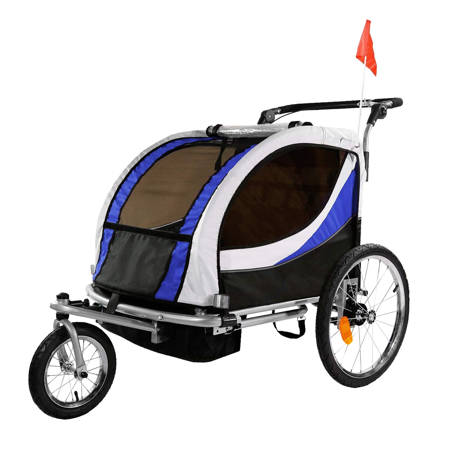 Clevr Collapsible Bicycle Stroller Suspension