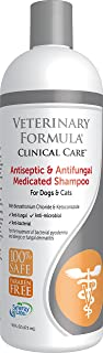 Veterinary Formula Clinical Care Antiseptic and Antifungal Shampoo for Dogs and Cats, 16 oz – Medicated Shampoo to Relieve, Heal and Soothe Fungal and Bacterial Skin Infections