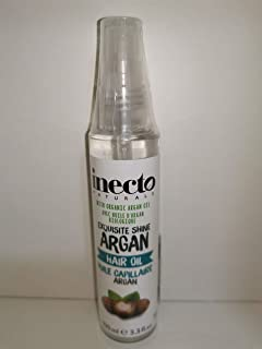 #MC INECTO Naturals ARGAN Hair Oil 100ML-Rejuvenate Your Dry, Tired Hair and Protect While Styling. A Wonderfully Hydrating Oil Infused with Pure Organic Argan Oil for Smooth and frizz Free Hair.