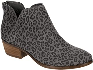 Nadya - Women's Low Heel Zip Up Bootie