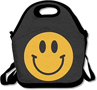 ScutLunb Lunch Bag Smiley Face Emoticon Lunch Tote Lunch Box For Women Men Kids With Adjustable Strap