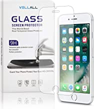 iPhone 6/6s Tempered Glass Screen Protector Ultra-Clear HD Protect Gorilla Glass with Premium Anti-Shatter and Oleophobic Treatment from VELLALL