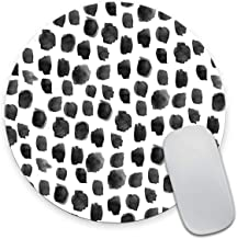Smooffly Polka Dot Mouse Pad, Polka Dot Print, Dot Pattern, Gift for Her, Cute Round Mousepad, Cute Desk Accessories, Offi...