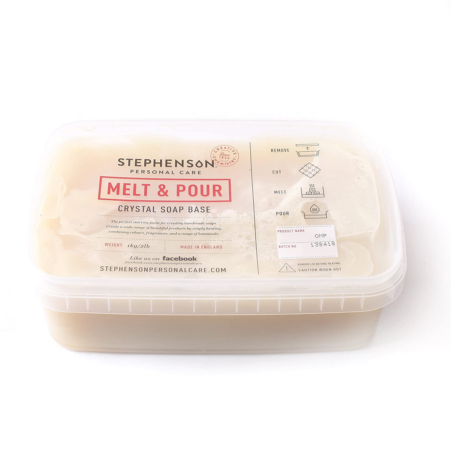 アーク競うショルダーMelt and Pour Soap Base Organic - 5Kg