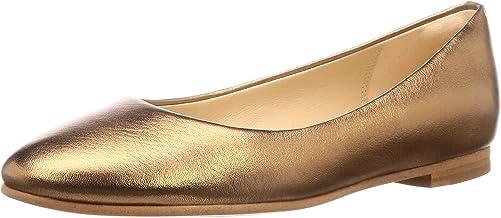 Clarks Women's Grace Piper Ballet Flats, Silver (Bronze Metallic Bronze Metallic)
