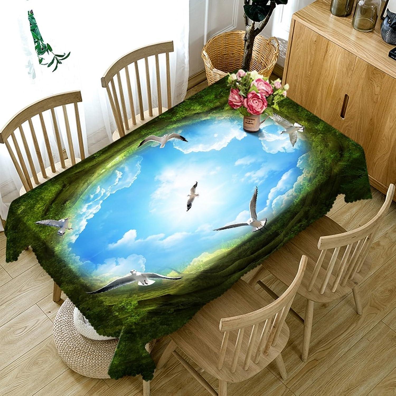 LWF Europäische Tischdecke Rechteckige Tischdecke - 3D personalisierte Tischdecke PG01066 - umweltfreundlich und geschmacklos - Digitaldruck wasserdicht (größe   Rectangular -228cm396cm) B07D5ZG86T Spielzeugwelt, spielen Sie Ihre eigene W