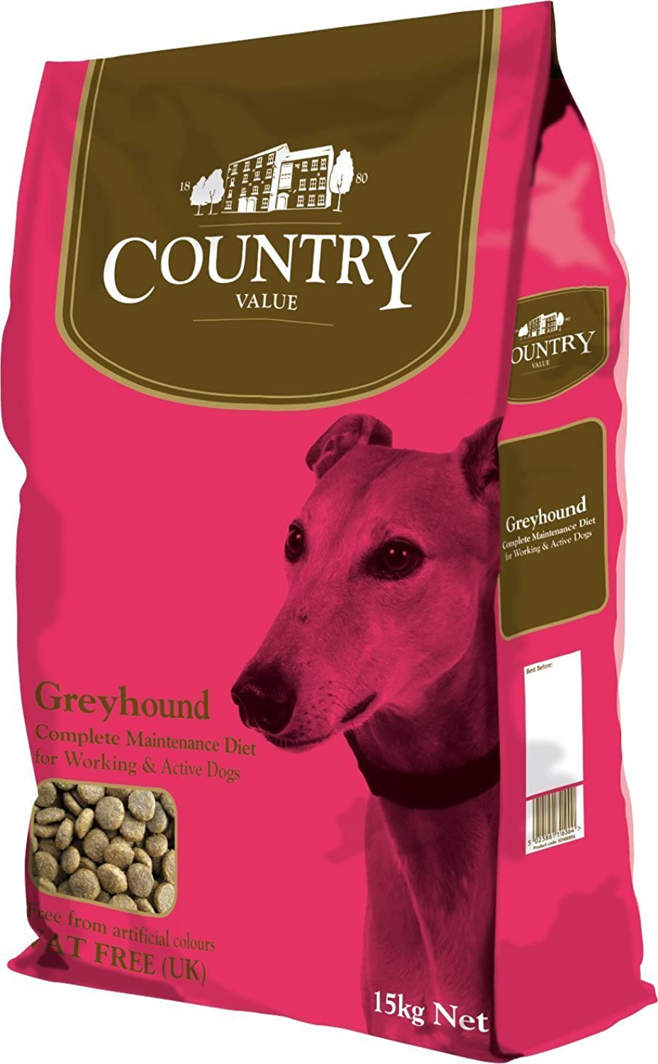 30kg  Burgess Dog Food Country Value Greyhound Complete Food (15 kg x 2)