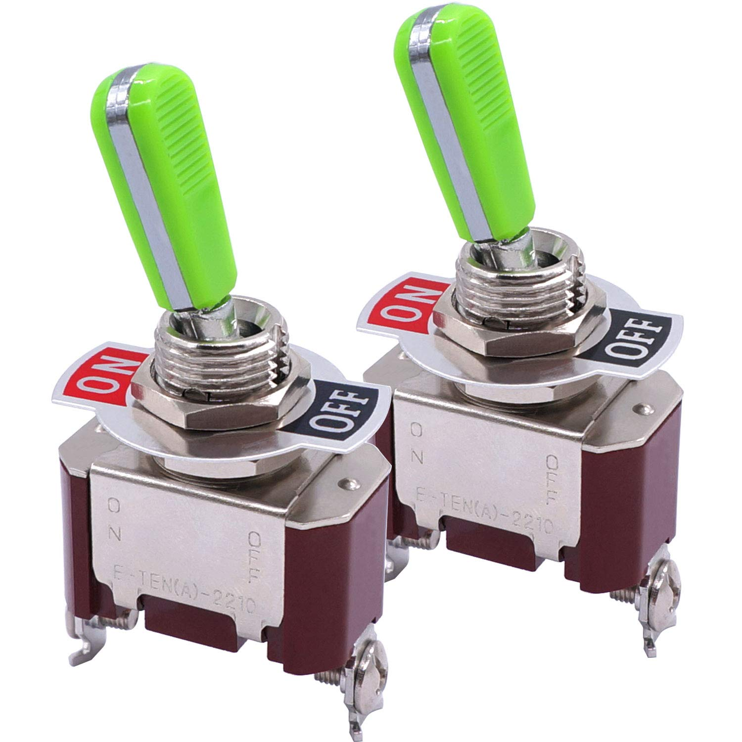 Taiss 2pcs Univeral Heavy Duty 20A 125V ON SPST 2 Off At the price Terminal Columbus Mall R