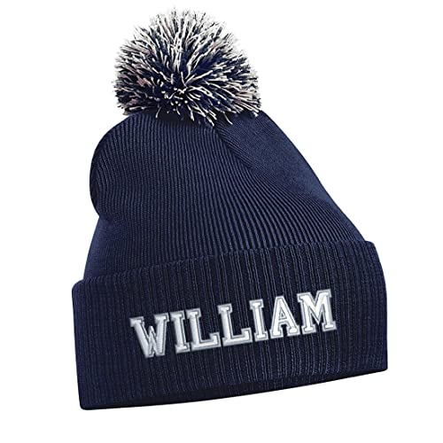 ffdc6ebf678 PERSONALISED CHILDREN S BOBBLE HAT - Embroidered Names Ideal for School    Clubs