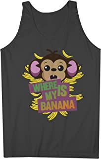 Monkey Where Is My Banana おかしいです 男性用 Tank Top Sleeveless Shirt
