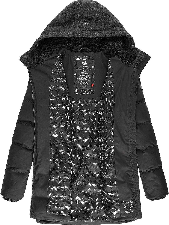 Ragwear Damen Jacke Wintermantel Winterparka Ashani Puffy XS-XXL Schwarz Block20