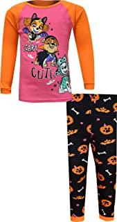 Paw Patrol Scary Cute Halloween Snug Fit Cotton Long Sleeve Pajamas, 2-Piece PJ Set