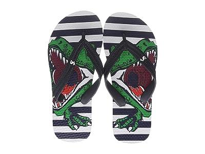 Joules Kids Flip-Flop (Toddler/Little Kid/Big Kid) (Navy Dino Stripe) Boys Shoes