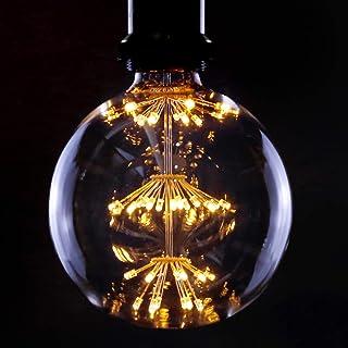 Ampoule Vintage LED E27 Boule De Feux D'artifice 3W Ampoule Décorative LED G125 Grande Boule Blanc Chaud 2200K Lampes Anti...