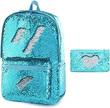 Flip Glitter Backpack for Girls Kids Cute Sequin School Bookbag Back Pack Sparkly