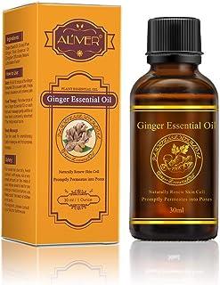 Aceite Esencial de Jengibre 100% Puro Aceite Natural Raíz de Jengibre Aceite para el Drenaje Linfático, Promover la Circulación Sanguínea, Aliviar el Dolor Muscular 30 ml