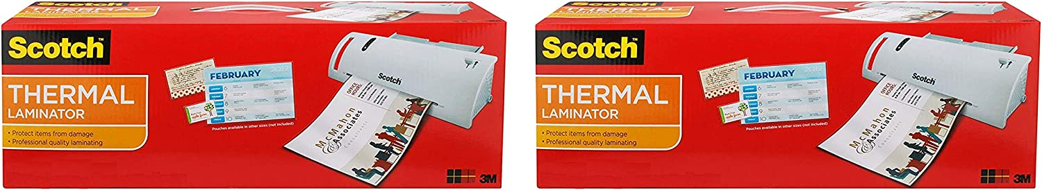 Outlet SALE Scotch Thermal Laminator Combo Pack Letter-Size 20 Lam mart Includes