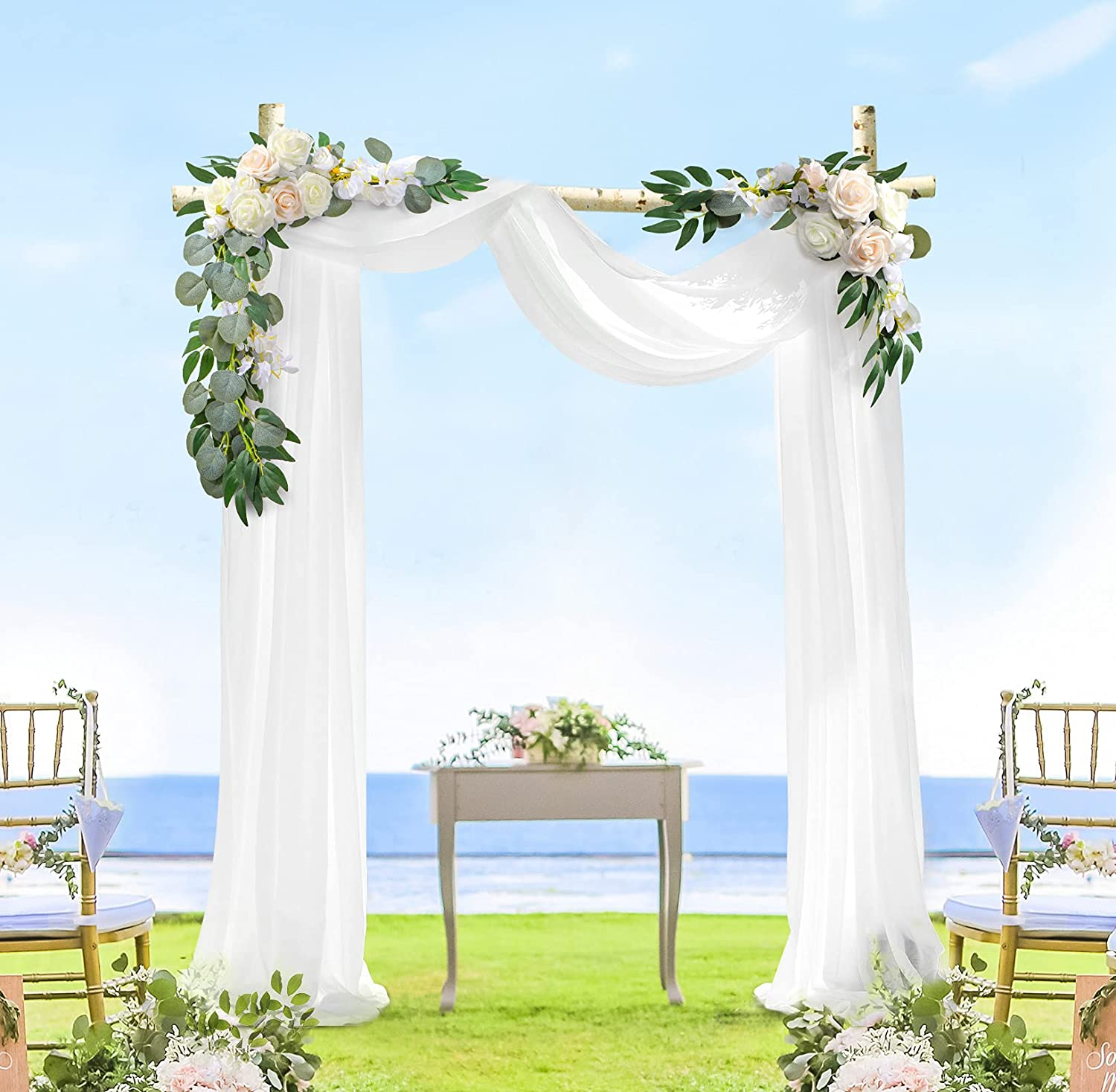 Large discharge sale Wedding Arch Flowers Decorations Pack Champagne 2 New products world's highest quality popular Rust Ivory of