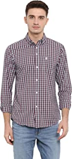 Red Tape Men's Checkered Regular Fit Casual Shirt (RSF9344A_Pastel Blue_XL)