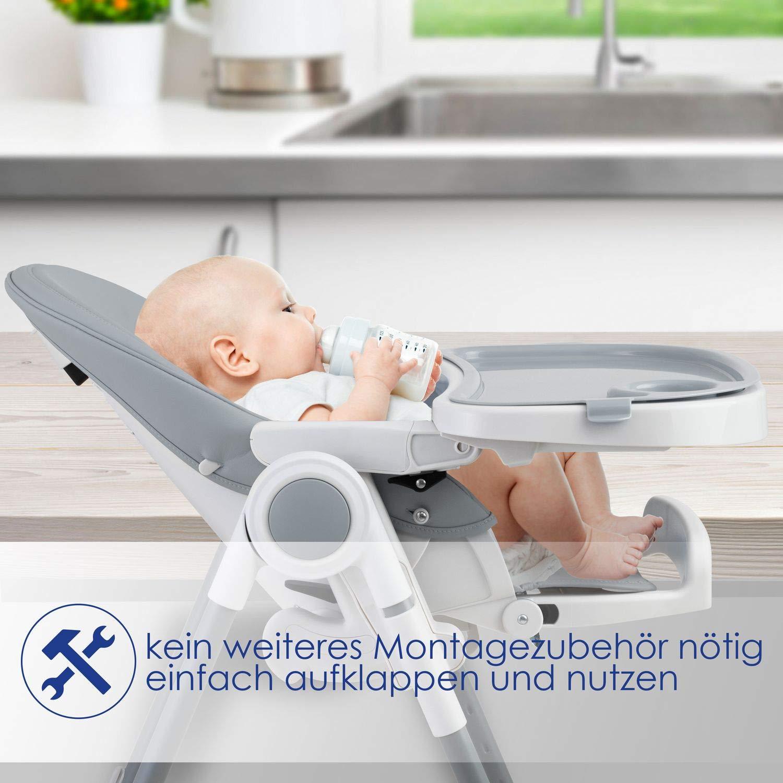 KIDIZ/® 3in1 Hochstuhl Kinderhochstuhl inkl Beige mitwachsend ab 0 Monate bis 6 Jahre Babystuhl Babyliege Kombihochstuhl Babyhochsitz,7 h/öhenverstellbar Verstellbare R/ückenlehne Spielb/ügel