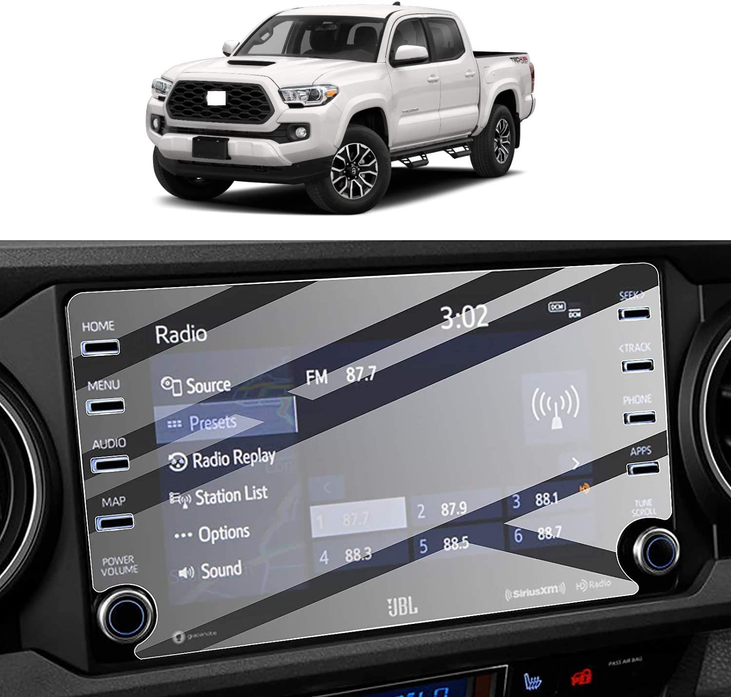 Max 90% OFF BSTACLL Screen Protector Compatible with Toyota Tacoma 2021 Easy-to-use 2020