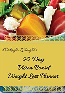 90 Day Vision Board Weight Loss Planner: Your Weekly Meal Planning Journal for Any Diet Plan Such As Detox or Intermittent Fasting , Carb Cycling For Women - Healthy Body Healthy Mind