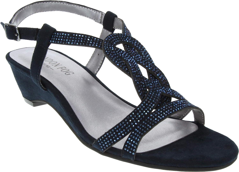 Tulsa Mall London Fog Womens Macey Demi-Wedge Dress Excellent Sandals