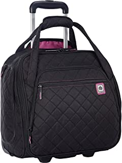 Delsey Quilted Rolling Underseat Bag For Carry-On Fits Overhead   Under  Airline Seat - 393396eef7b1c