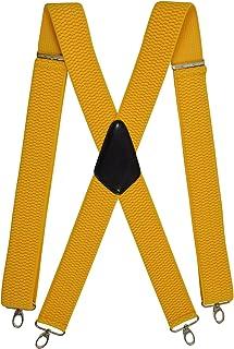 Olata Unisex Bretelle regolabili, Extra Forte X-Forma con Carabiner Clip, 4cm larghezza