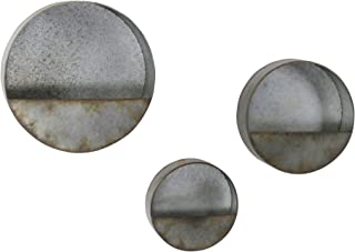 Aspire Home Accents 6473 Aria Three Piece Wall Mounted Metal Planter Set